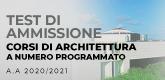 Test di ammissione ad Architettura a.a. 2020/2021