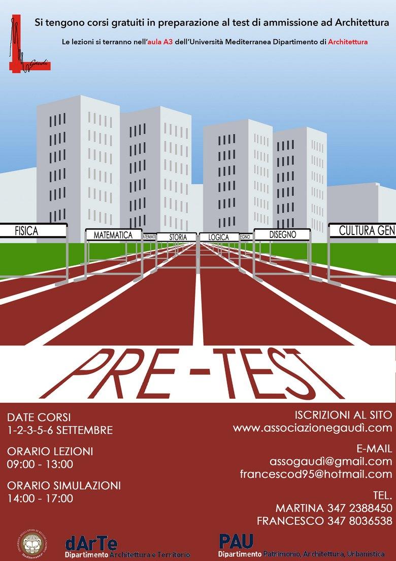 Universit degli studi mediterranea articoli 1 6 for Test di architettura