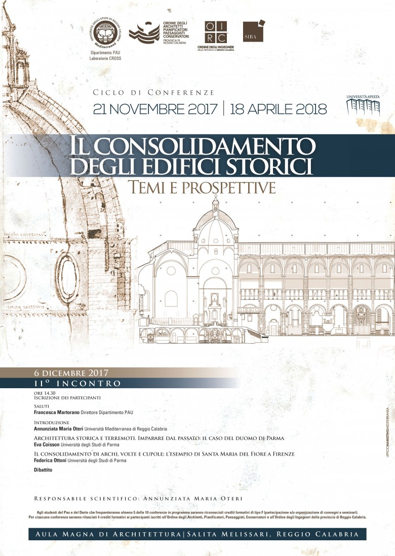 Interventi Di Consolidamento Murature.Università Degli Studi Mediterranea Articoli 6 Dicembre